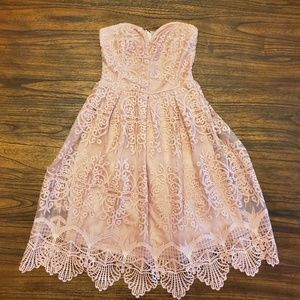 Charlotte Russe Dusty Pink Party Dress